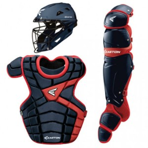 Easton M10 Catchers Gear Set-Adult-Navy-Red