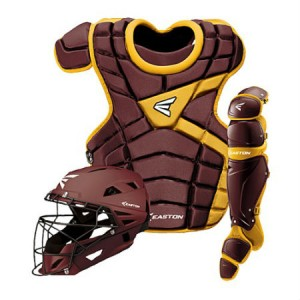 Easton M10 Catchers Gear Set-Adult-Maroon/Gold