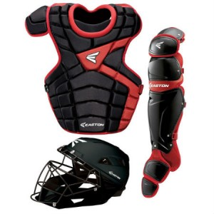 Easton M10 Catchers Gear Set-Adult-Black/Red
