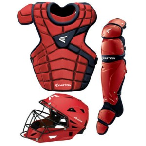 Easton M10 Catchers Gear Set-Adult-Red/Navy