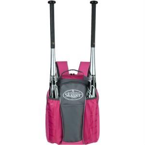 Louisville Slugger EB Series 3 Stick Back Pack Hot Pink