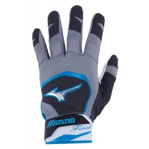 Mizuno Batting Glove Finch Women (Black/Diva Blue)******