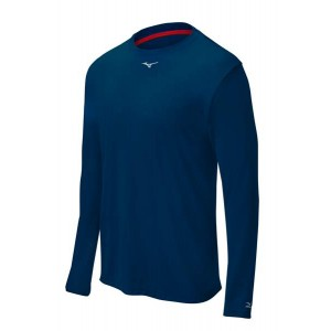 Mizuno Comp Long-Sleeve Crew (Navy)******