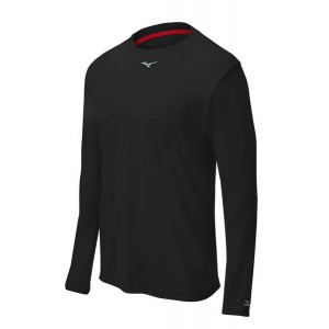 Mizuno Comp Long-Sleeve Crew (Black)******