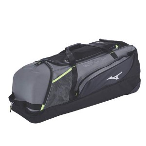 Mizuno Samurai Catcher's Wheel Bag-Charcoal/Black