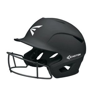 Easton Prowess Grip Batting Helmet with Mask-Black-S/M