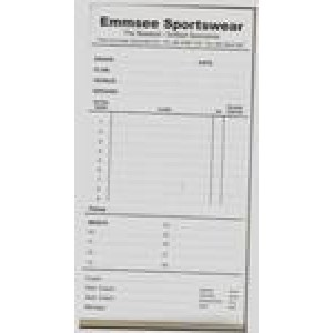 Emmsee Sportswear Team Sheet