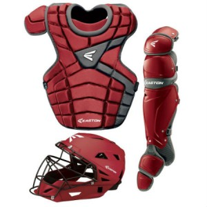 Easton M10 Catchers Gear Set-Adult-Maroon/Silver