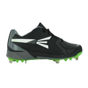 Easton Mako Metal Cleats-Black/Green-Size 8
