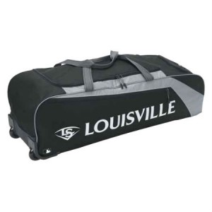 Louisville Slugger EB Series 3 Rig Wheeled Bag-Black